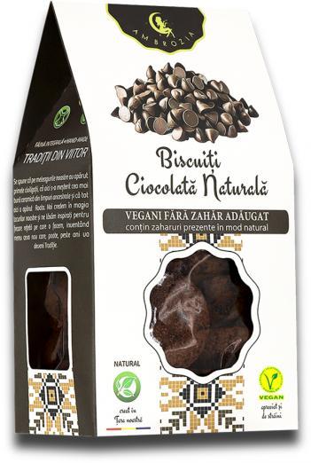 Biscuiți vegan cu ciocolată NATURALA 150g 1
