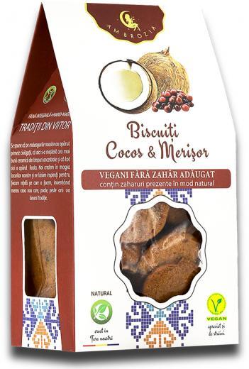 Biscuiți vegan merișor-cocos 150g 1
