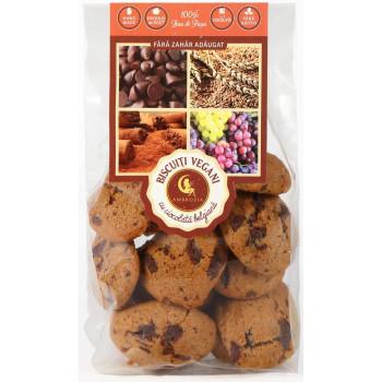 Biscuiți vegan cu ciocolată belgiană 150g - GustOriental.ro